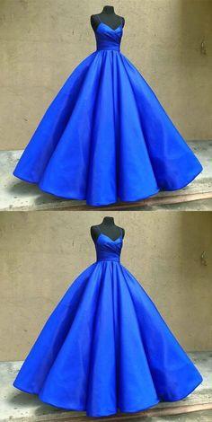 royal blue prom dresses, sexy spaghetti straps prom
