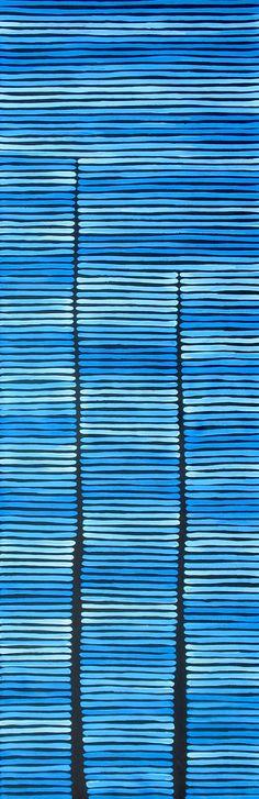 Aboriginal Artwork by Adam Reid Sold through Coolabah Art on eBay. Catalogue ID 15117