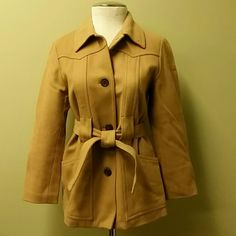 VINTAGE J.Crew Wool Coat Thinsulate lining.  GREAT condition.  So warm!  Fits 0-2.  Make an offer!! J. Crew Jackets & Coats