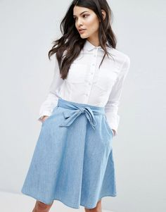 French Connection Hennessy Denim Mix Dress