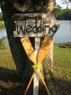 place at end of lake road to direct guests (not sure how literal you want to get with a lake wedding)