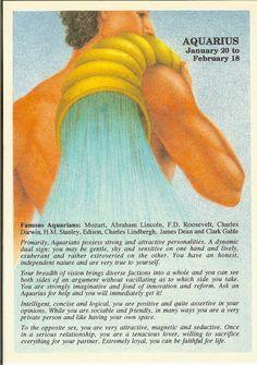 Zodiac Unlimited astrology postcard: Aquarius