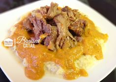 A paleo recipe for oxtail braised in mixed vegetables and served over rutabaga mash Paleo Recipes, Real Food Recipes, Paleo Food, Healthy Food, Braised Oxtail, Beef Oxtail, Paleo On A Budget, Oxtail Recipes, Food Obsession