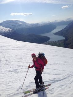 Alpine Touring in Fjord Norway, on my way to mt. Skåla in Loen, Norway. From the fjord to 1843 m. on 8,5 Km. April 2014.