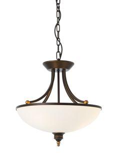 CORA Redo- rustik.závesná lampa - čierno-zlatý kov - ø 460mm
