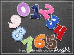 Aufnäher Geburtstag Zahl 0 - 9 ♥ 10 cm Applikation von AnCaNi auf DaWanda.com