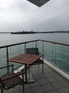 Balcony of the Bow Suite at the Hilton Auckland Hotel, Auckland Auckland, Outdoor Furniture, Outdoor Decor, Family Travel, Balcony, New Zealand, Bow, Amazing, Home Decor