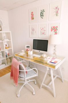 IKEA Hacks and DIY Hack Ideas for Furniture Projects and Home Decor from IKEA - Gold Leafed IKEA Desk Hack - Creative IKEA Hack Tutorials for DIY Platform Bed, Desk, Vanity, Dresser, Coffee Table, Storage and Kitchen Decor http://diyjoy.com/diy-ikea-hacks