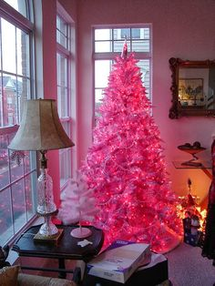 """Think Pink Christmas Tree, if only the husband would let me"