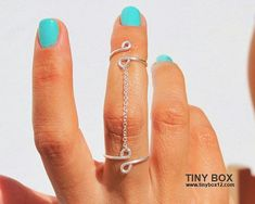 Chain Ring - New Knuckle Ring - Body Jewelry - Double Ring - 925 Silver Chain  Ring on Etsy, $18.99