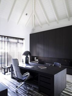 Top 10 Stunning Home Office Design - Site Home Design Work Office Design, Modern Office Design, Office Interior Design, Office Interiors, Home Interior, Office Designs, Contemporary Office, Office Style, Home Office Furniture