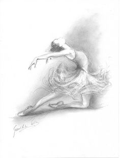 Limited Edition 8 x 12 print on CREAM PAPER of original pencil drawing by Ewa Gawlik Ballerina Kunst, Ballerina Sketch, Art Ballet, Ballet Painting, Ballet Drawings, Dancing Drawings, Pencil Art, Pencil Drawings, Art Drawings