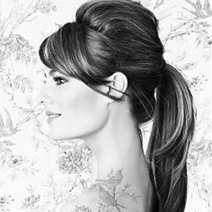 Going to a hospitality convention tomorrow, and wearing my hair like this :) love it! Fancy Hairstyles, Ponytail Hairstyles, Wedding Hairstyles, Hair Ponytail, Peinado Updo, Cute Ponytails, How To Make Hair, Hair Today, Hair Dos