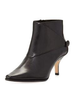 Loli Leather Ankle Boot, Black, Women's, Size: 40.0B/10.0B - Donald J Pliner