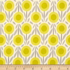 Cloud 9 Organic House & Garden Flower Bed Yellow from @fabricdotcom  From Cloud 9 Fabrics, this certified 100% organic cotton print fabric meets the GOTS certification; only low impact, organic dyes were used in this product. This fabric is perfect for quilts, home decor accents, craft projects and apparel. Colors include white, shades of grey and shades of citron.