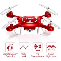 2016 New Arrival SYMA X5UW Somatosensory Control UAV Drone with Wifi camera HD Quadcopter 6Axis 4CH. Click visit to buy #RemoteControl #Helicopter