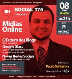Convidado: Paulo Schiavon. Tema: Mídias Online. Com Denis Zanini e Sandru Luis. Clique e assista!