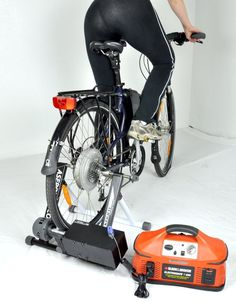 Pedal Power Bicycle Generator - $600+? From the reviews, this product seems a little sketchy. But human-powered generators are a proven concept, and bikes are designed to effectively harness human power for extended periods of time.