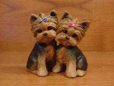 Original Yorkie Yorkshire Terrier Dog Sculpture ClayDogz MandyO ooak in Collectibles, Animals, Dogs Polymer Clay Ornaments, Polymer Clay Figures, Polymer Clay Sculptures, Polymer Clay Animals, Yorkie Terrier, Yorkie Puppy, Terrier Dogs, Dog Cake Topper, Yorkshire Terrier Dog