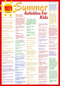Summer Planning guide to get the kids organised for a sensational Summer