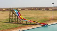 Double fast racer slides, each Wendy House, Jungle Gym, Fair Grounds, Boat, Park, Fun, Travel, Dinghy, Viajes