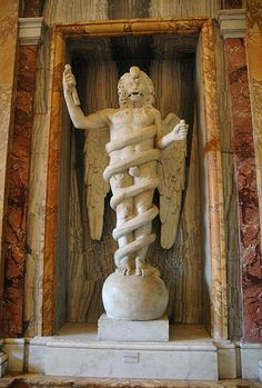 Aion - Mithraic Deity of Eternal Time by Victor and Patricia Ocampo, via Flickr.  Aion was a major figure in Mithraism, who figures prominently in the work of C.G. Jung