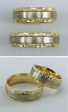 TRAURING / EHERING - Paar   in bicolor Gold 585/ooo