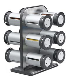 Take a look at this Silver Large Magnetic Spice Canister Set by ZEVRO on #zulily today! $37 !!