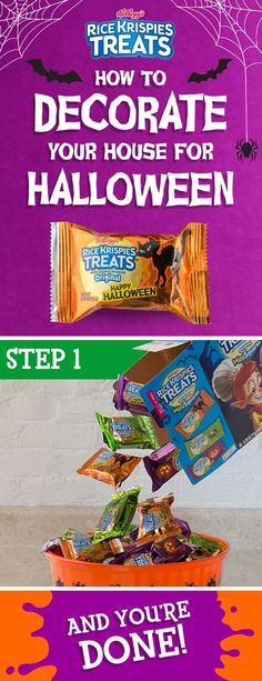 Want to make your house the perfect balance between petrifying and presentable this #Halloween? It's frightfully easy. All you need are some Rice Krispies Treats and a place to put them!