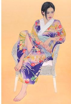 Japanese Geisha Tattoo, Manga Tattoo, Sumi E Painting, Japanese Art Prints, Oriental, Beauty Art, Chinese Art, Tattoo Images, Female Art