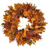 Fall Harvest Wreath Harvest Wreath Fall Door Wreaths Colors Of Russet & Gold for sale online Thanksgiving Wreaths, Autumn Wreaths, Thanksgiving Decorations, Seasonal Decor, Wreath Fall, Gold Wreath, Holiday Decorations, Fall Door Wreaths, Thanksgiving Favors