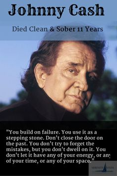 Sober Celeb Johnny Cash. Mr Cash struggled for decades in and out of drug rehab programs, but was sober for 11 years before he died. Excellent! Serenity Vista Addiction Treatment Center, private pay, holistic, 12 step, luxury, tropical, affordable. Click here: www.serenityvista.com