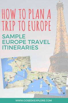 Planning a trip to Europe can be overwhelming at the start, since there are   so many places to go and so many things to see. Jump start your planning   with over a dozen sample itineraries all over Europe organized by region,   season, and length of time.