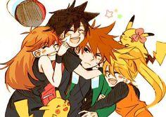 Pokemon Rouge, Pokemon W, Green Pokemon, Pokemon Ships, Pokemon Comics, Cool Pokemon, Digimon, Ash Y Misty, Pokemon Especial