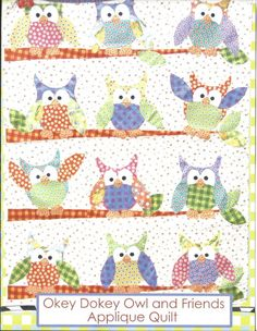 Owl quilt pattern - $10