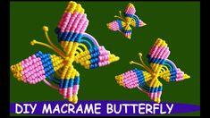 DIY Macrame Butterfly Wall Hanging – Willkommen in meiner Welt Macrame Owl, Macrame Knots, Micro Macrame, Free Macrame Patterns, Flower Pot Design, Arts And Crafts, Diy And Crafts, Macrame Tutorial, Rope Plant Hanger