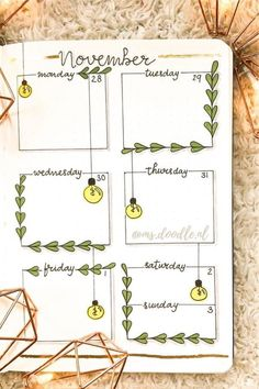 Check out these bullet journal weekly spread ideas for November! Bullet Journal School, Bullet Journal Christmas, Bullet Journal Cover Ideas, Bullet Journal Lettering Ideas, Bullet Journal Banner, Bullet Journal Notebook, Bullet Journal Themes, Bullet Journal Spread, Bullet Journal Layout