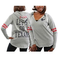 Houston Texans PINK by Victoria s Secret Women s Varsity Tunic Pullover  Hoodie – Gray Houstan Texans b92abd31a