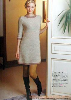 Элегантное платье из Keito Dama 2003 №120. Обсуждение на LiveInternet - Российский Сервис Онлайн-Дневников
