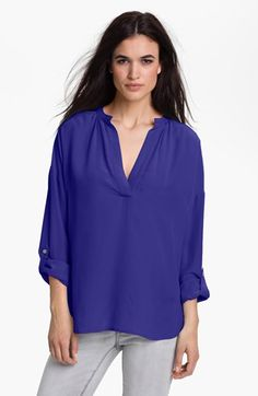Two by Vince Camuto Split Neck Tunic Blouse available at #Nordstrom
