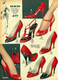 Best way to get through a Monday? With some killer footwear, of course! Which is your favorite? 1930s Shoes, Vintage Shoes, Vintage Accessories, Vintage Outfits, Vintage Inspired Fashion, 1950s Fashion, Vintage Fashion, Vintage Couture, Mode Vintage