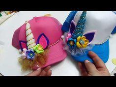 Mi version de Moño Uncornio para Gorras, Magical Unicorn - YouTube Cute Crafts, Crafts For Kids, Bone Bordado, Unicorn Hat, Diy Baby Headbands, Cat Ears Headband, Crazy Hats, Baby Sewing Projects, Unicorn Crafts