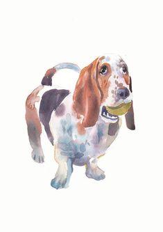 Custom Pet Portrait - Custom Portraits - Original Art - 11x14inches  - Watercolor Painting - Art - Dogs - Art Gift