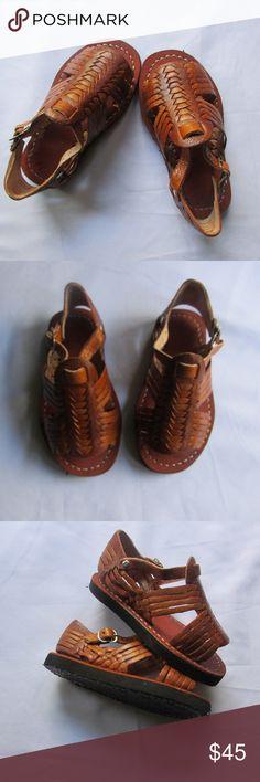 Kids Huarache *Litte Huarache * kids size 16 (9) *uni sex *soft leather *hand made *fair trade  *buckle for closure Josefina Shoes Sandals & Flip Flops