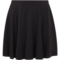 New Look Curves Black Flounce Skater Skirt ($19) ❤ liked on Polyvore featuring skirts, black, flouncy skirt, frill skirt, frilly skirt, circle skirt and skater skirt