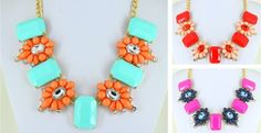 Anthropologie Inspired Chunky Flower Necklace!