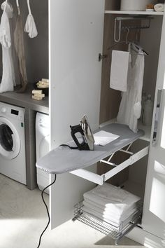 More than just a room, this will be your 5 options of laundry room layout ideas. Transitional, traditional, pet-friendly, and a couple more laundry room design ideas. Modern Laundry Rooms, Laundry Room Layouts, Laundry Room Cabinets, Laundry In Bathroom, Laundry Room Design, Bathroom Design Small, Bathroom Interior Design, Utility Room Storage, Laundry Room Organization