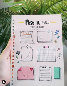 Post It Note doodles for your Bullet Journal Bullet Journal School, Bullet Journal Headers, Bullet Journal Banner, Bullet Journal 2019, Bullet Journal Notebook, Bullet Journal Ideas Pages, Bullet Journal Inspiration, Bullet Journal Revision, Bullet Journal Vacation