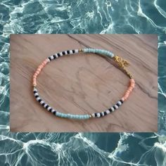 Seed Bead Jewelry, Bead Jewellery, Cute Jewelry, Beaded Jewelry, Handmade Jewelry, Beaded Bracelets, Surf Necklace, Diy Necklace, Necklace Designs