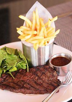 Plate Presentation Ideas   Steak Frites, a beautiful grilled hanger steak with arugula salad ...